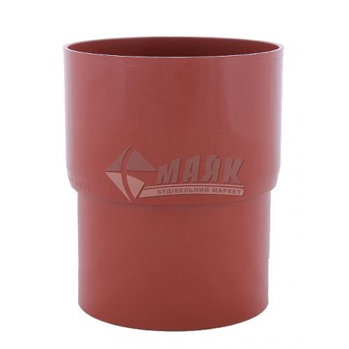 Муфта (з'єднувач) труби водозливної пластикова Profil 90 мм 90/75 цегляна