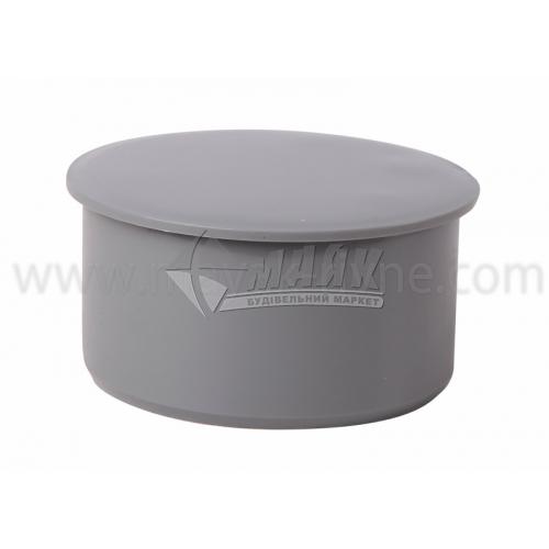 Заглушка ПВХ внутрішня каналізація Інсталпласт 110 мм сірий