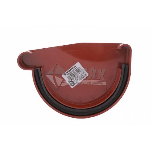 Заглушка ринви пластикова ліва Profil L 90 мм 90/75 цегляна