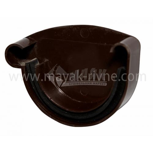 Заглушка ринви пластикова ліва L Profil 130 мм 130/100 коричнева