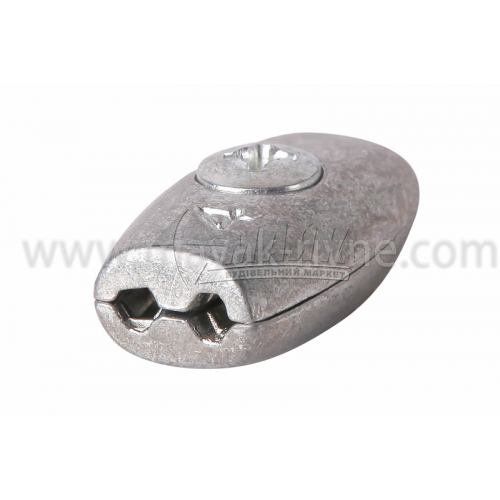 Затискач для троса бочкоподібний 2 мм