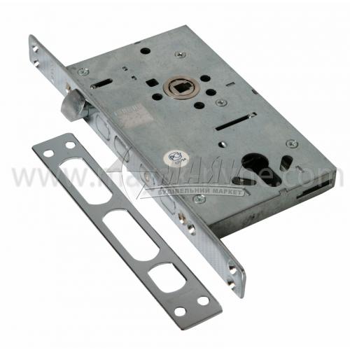 Замок врізний для металевих дверей Apecs T-05-CR без циліндра хром
