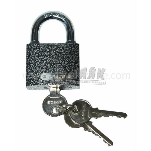 Замок навісний відкритий (амбарний) Apecs PD-01-50 3 ключі чавунний