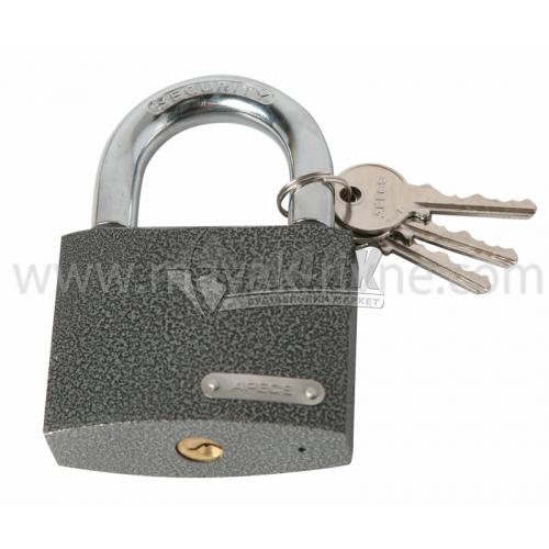 Замок навісний відкритий (амбарний) Apecs PD-01-75 3 ключі чавунний