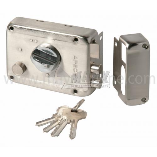 Замок накладний Apecs 0098-C-S 5 ключів сатин