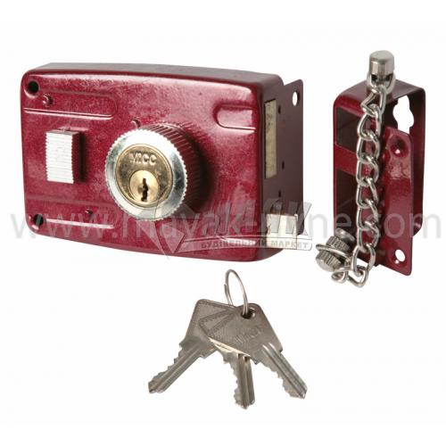 Замок накладний GL 101 3 ключі