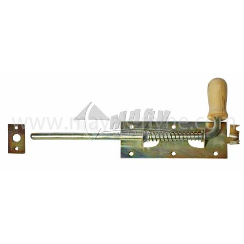 Засув гаражний №2 310 мм з дерев'яною ручкою оцинкований