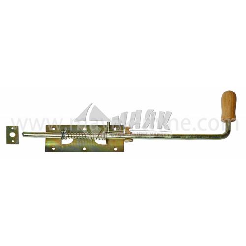 Засув гаражний №3 465 мм з дерев'яною ручкою оцинкований