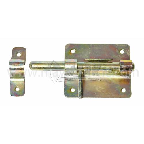 Засув дверний круглий №4 127×72 мм з фіксатором оцинкований