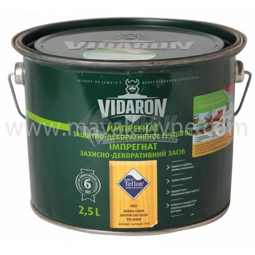 Захист для деревини Vidaron Impregnat 4в1 V02 2,5 л золота сосна