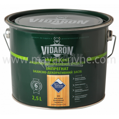 Захист для деревини Vidaron Impregnat 4в1 V03 2,5 л біла акація