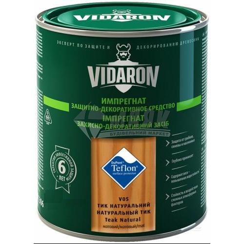 Захист для деревини Vidaron Impregnat 4в1 V05 9 л тик натуральний