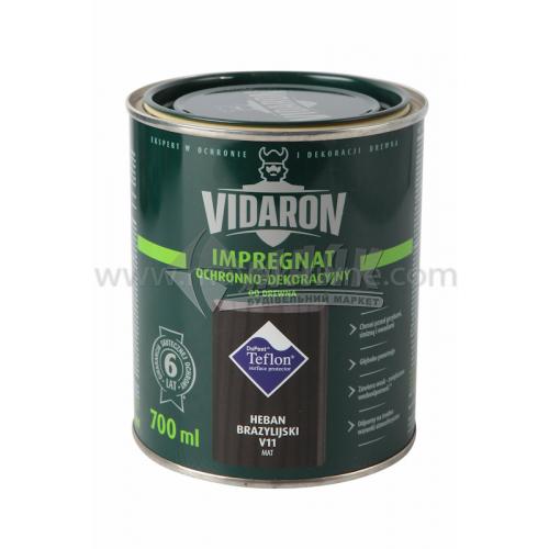 Захист для деревини Vidaron Impregnat 4в1 V11 700 мл чорне бразильське дерево