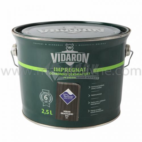 Захист для деревини Vidaron Impregnat 4в1 V11 2,5 л чорне бразильське дерево