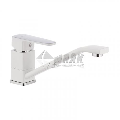 Змішувач для кухні MIXXUS Missouri 555 Гайка (WHITE) одноважільний настільний білий
