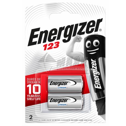 Батарейка ENERGIZER CR123A 123 Lithium Photo літієва 2 шт