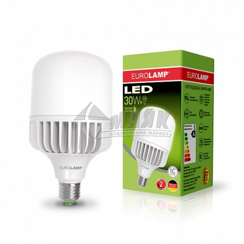 Лампа світлодіодна циліндр EUROLAMP 30Вт Е27 HP 4000°К (LED-HP-30274)
