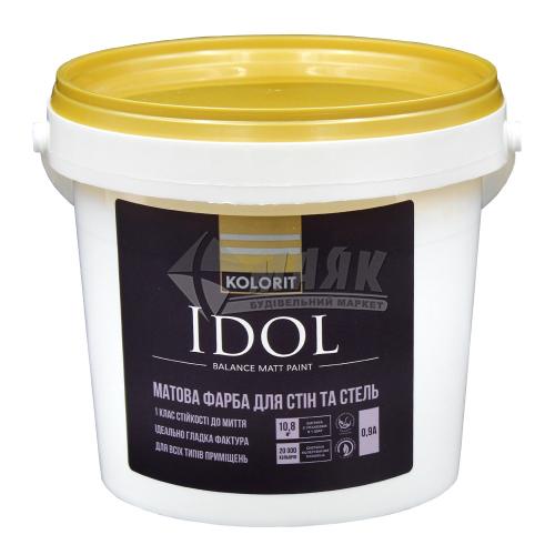 Фарба інтер'єрна Kolorit Idol база А акрилова 0,9 л біла матова