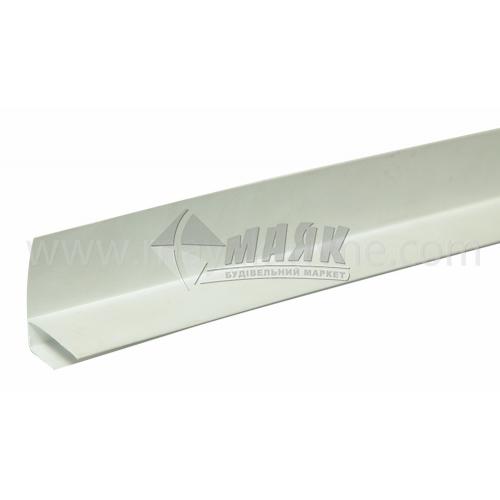 Профіль монтажний ПВХ F-подібний 3 пог.м 8,5 мм білий