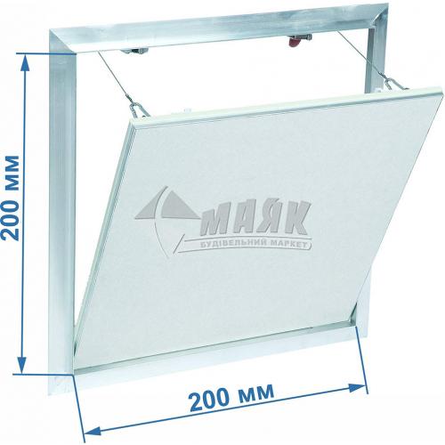 Дверцята ревізійні F2 G:125 200x200 мм гіпсокартон 12,5 мм