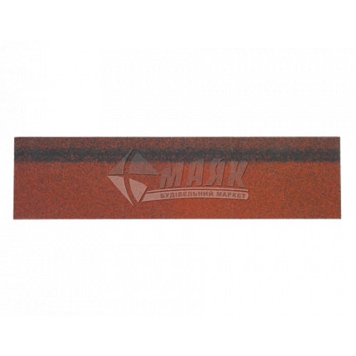 Коник-звіс ТЕХНОНІКОЛЬ ROOFMAST для бітумної черепиці 250×1000 мм 3 кв.м червоний
