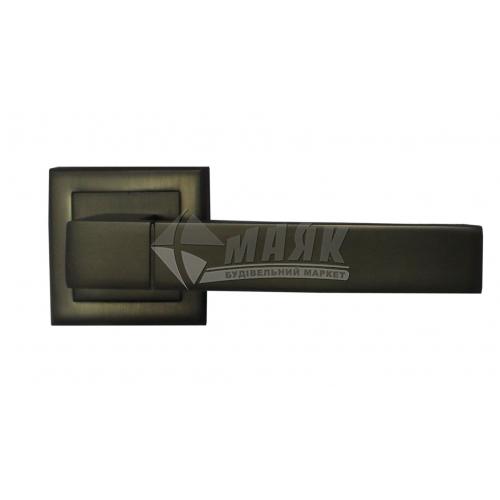 Ручки дверні на розетці LINDE A-2004 MA антрацит матовий