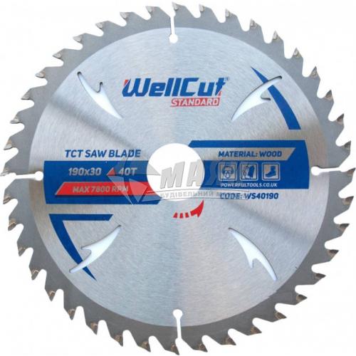 Диск пиляльний WellCut Standard 190×30 мм 40Т