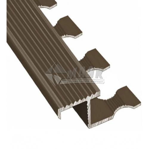 Профіль для плитки алюмінієвий TIS АПЗР 10×12×2700 мм бронза матова