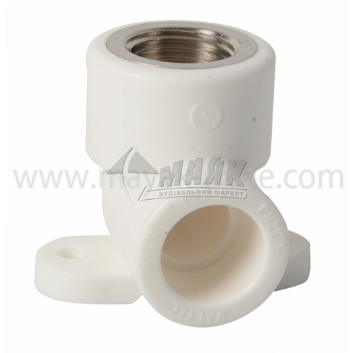 """Водорозетка поліпропіленова VALTEC 20 мм х 1/2"""" внутрішня різьба біла"""