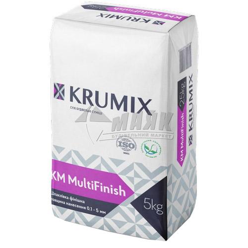 Шпаклівка гіпсова KRUMIX KM MultiFinish фінішна 5 кг