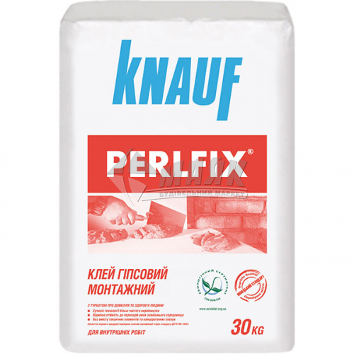 Клей монтажний для гіпсокартону Knauf PERLFIX 30 кг
