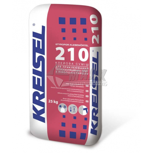 Клей монтажний для пінопласту Kreisel 210 25 кг