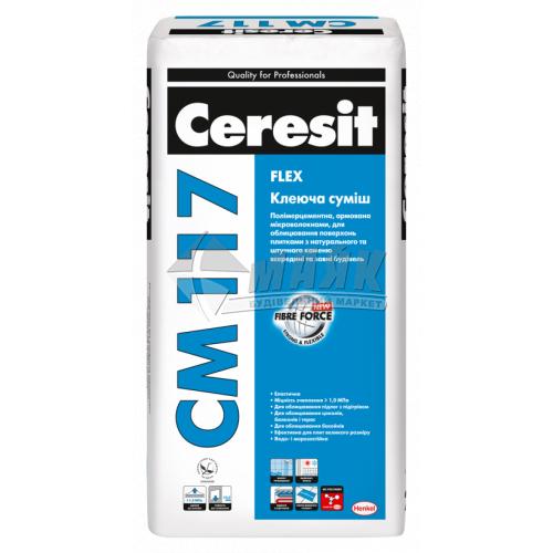 Клей для облицювальної плитки Ceresit CM 117 Flex 25 кг