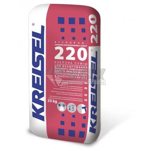 Клей монтажний для пінопласту Kreisel 220 25 кг