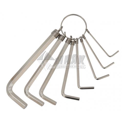 Набір ключів шестигранних (імбусових) Grad 2-10 мм 8 шт