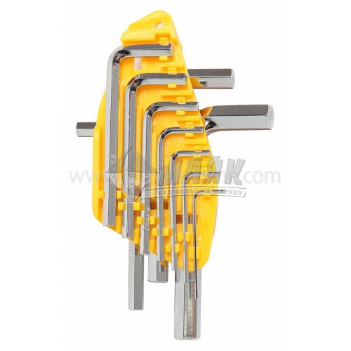 Набір ключів шестигранних (імбусових) TECHNICS 1,5-10 мм 10 шт Cr-V