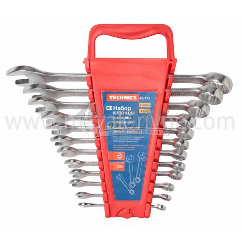 Набір ключів ріжково-накидних 6-22 мм 12 шт