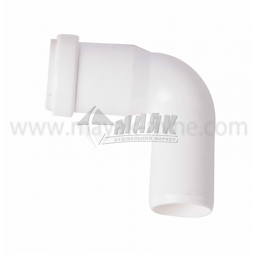 Коліно ПВХ внутрішня каналізація Інсталпласт 90° 32 мм біле