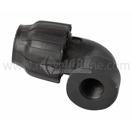 """Коліно для водопровідної труби VS Plast 25 мм 1/2"""" внутрішня різьба"""