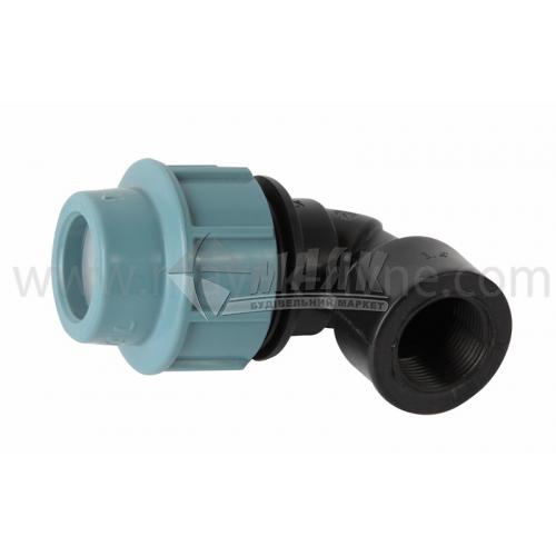 """Коліно для водопровідної труби VS Plast 25 мм 3/4"""" внутрішня різьба"""
