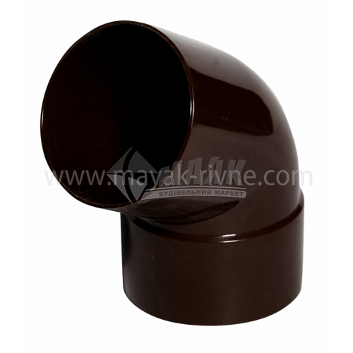 Коліно труби пластикове Profil 75 мм 60° 90/75 коричневе
