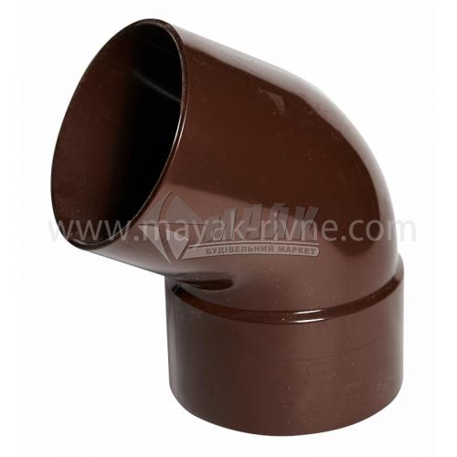 Коліно труби пластикове Profil 100 мм 60° 130/100 коричневе