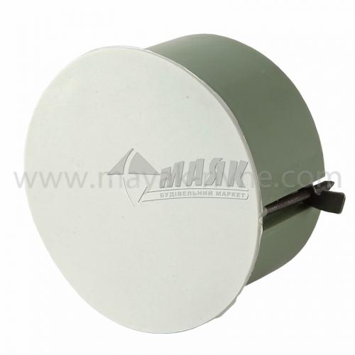 Коробка розподільча 80×40 мм кругла для гіпсокартону металевими пелюстки