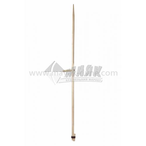 Ручка для коси (косьє) дерев'яна з кільцем і клином