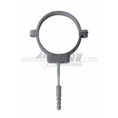 Кріплення для труби ПВХ внутрішня каналізація Інсталпласт 110 мм сіре