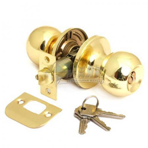 Ручка-замок (кнобсет) дверний Apecs 6072-01-G золото