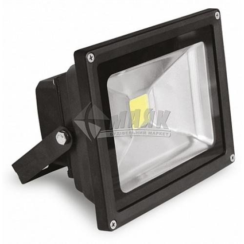 Прожектор світлодіодний EUROLAMP 30Вт 6500°К чорний LED-FL-30(black)