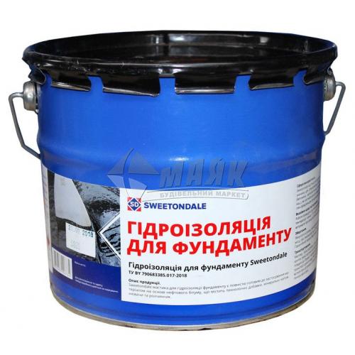 Мастика гідроізоляційна бітумна Sweetondale Для фундаменту 3 кг
