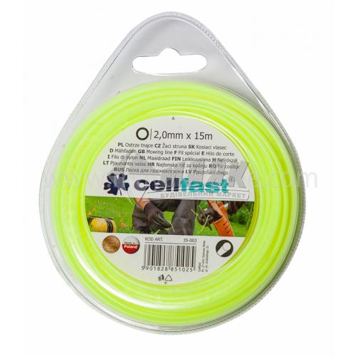 Жилка для газонокосарки Cellfast 2,0 мм × 15 м кругла