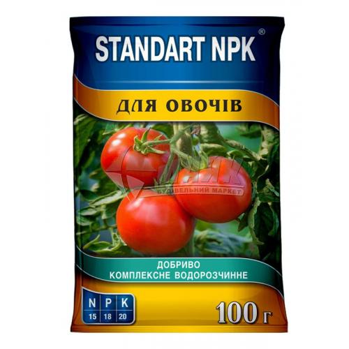 Добриво мінеральне Standart NPK для овочів водорозчинне 100 г